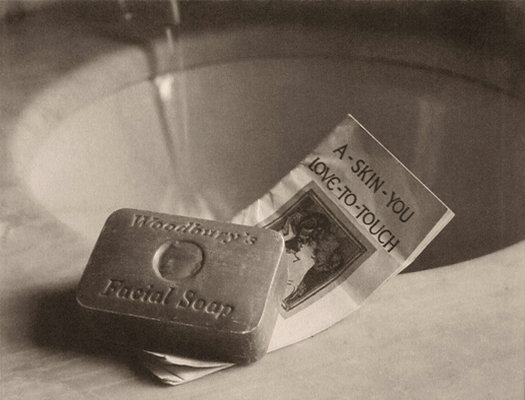 Ad for Woodbury's Soap, 1924  vintage platinum/palladium print 6 x 8 inches
