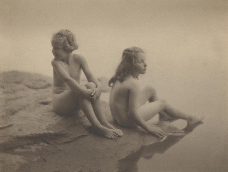 Water Babies, 1923  vintage platinum/palladium print 6.25 x 8 inches