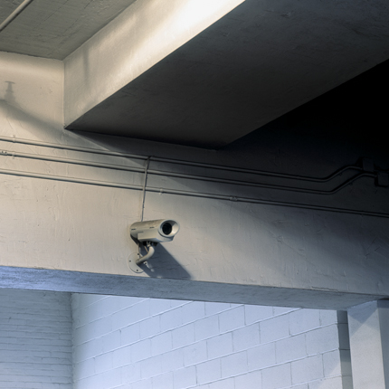 Nº1, Albany, NY, 2003 from the series:  Surveillance Cameras  18 x 18 inches edition of 20 archival pigment print