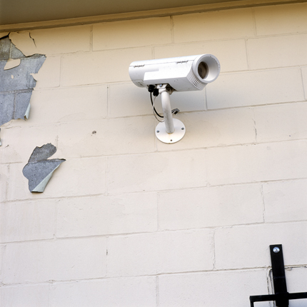 Nº4, Albany, NY, 2002 from the series:  Surveillance Cameras  18 x 18 inches edition of 20 archival pigment print