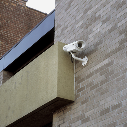 Nº7, Albany, NY, 2003 from the series:  Surveillance Cameras  18 x 18 inches edition of 20 archival pigment print