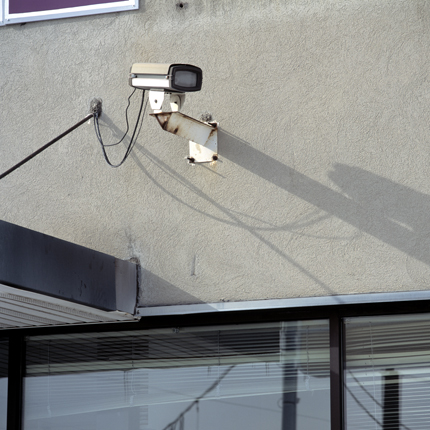 Nº9, Schenectady, NY, 2003 from the series:  Surveillance Cameras  18 x 18 inches edition of 20 archival pigment print