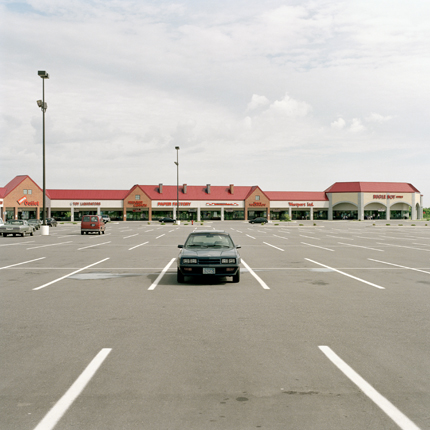 Nº1, Minneapolis, Minnesota, 1993 from the series:  Strip Malls  18 x 18 inches edition of 20 archival pigment print