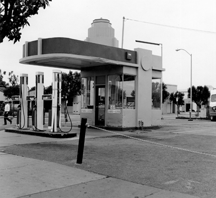 BP, Watsonville, California, 1989 from the series:  Twentysix Abandoned Gasoline Stations  6.5 x 7 inches edition of 20 silver print