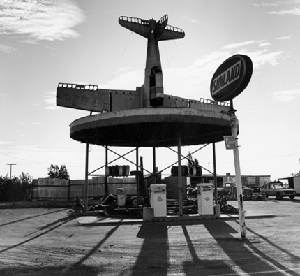 Sunland, Johnson Corners, California, 1984 from the series:  Twentysix Abandoned Gasoline Stations  6.5 x 7 inches edition of 20 silver print
