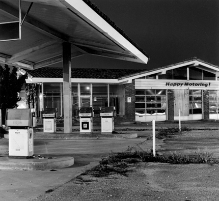Exxon, Lompoc, California, 1989 from the series:  Twentysix Abandoned Gasoline Stations  6.5 x 7 inches edition of 20 silver print
