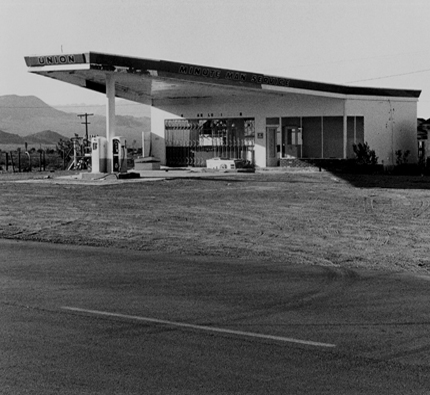 Union 76, Ludlow, California, 1986 from the series:  Twentysix Abandoned Gasoline Stations  6.5 x 7 inches edition of 20 silver print