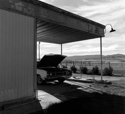 Guy's Gas, Near Taft, California, 1992 from the series:  Twentysix Abandoned Gasoline Stations  6.5 x 7 inches edition of 20 silver print