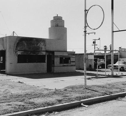 Union 76, Near Bakersfield, California, 1989 from the series:  Twentysix Abandoned Gasoline Stations  6.5 x 7 inches edition of 20 silver print