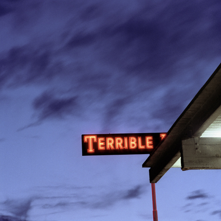 Terrible, Banning, California, 1991 from the series:  Language in the Landscape  18 x 18 inches edition of 20 archival pigment print