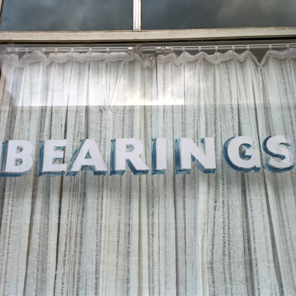 Bearings, Butte, Montana, 1999 from the series:  Language in the Landscape  18 x 18 inches edition of 20 archival pigment print