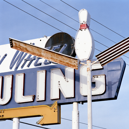 Bowling Nº23, California, 1992 from the series:  Signs  18 x 18 inches edition of 20 archival pigment print