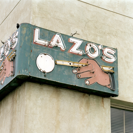Lazo's, Bakersfield, California, 1996 from the series:  Signs  18 x 18 inches edition of 20 archival pigment print