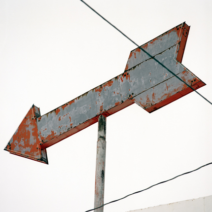 Arrow in Sky, Escabosa, New Mexico, 2000 from the series:  Signs  18 x 18 inches edition of 20 archival pigment print