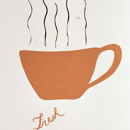 Fresh Cup, Santa Cruz, California, 1991 from the series:  Signs  18 x 18 inches edition of 20 archival pigment print