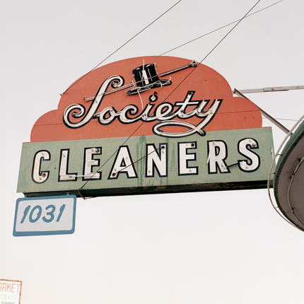 Society Cleaners, Las Vegas, Nevada, 1997 from the series:  Signs  18 x 18 inches edition of 20 archival pigment print