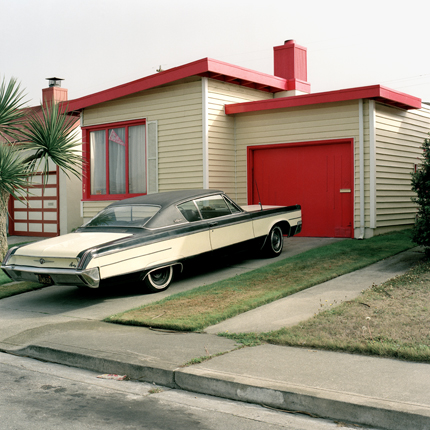 Carmen Red, Daly City, California, 1991 from the series:  Freshly Painted Houses  18 x 18 inches edition of 20 archival pigment print