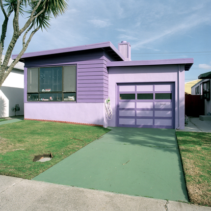 Hyacinth, Daly City, California, 1991 from the series:  Freshly Painted Houses  18 x 18 inches edition of 20 archival pigment print
