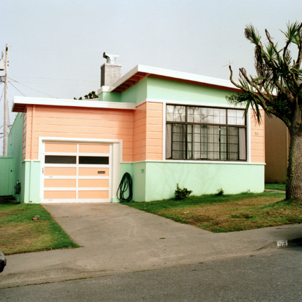 Slightly Salmon, Daly City, California, 1991 from the series:  Freshly Painted Houses  18 x 18 inches edition of 20 archival pigment print