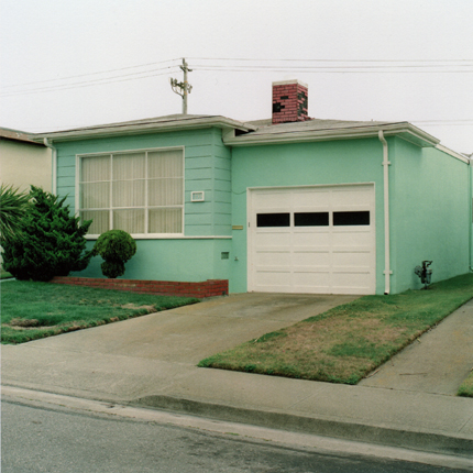Hint-O-Mint, Daly City, California, 1991 from the series:  Freshly Painted Houses  18 x 18 inches edition of 20 archival pigment print