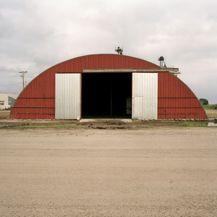 Nº69, Nebraska, 1993 from the series:  Farm Forms  18 x 18 inches edition of 20 archival pigment print