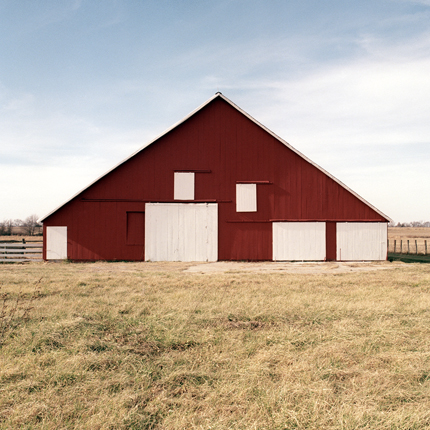 Nº30, Kansas, 1993 from the series:  Farm Forms  18 x 18 inches edition of 20 archival pigment print