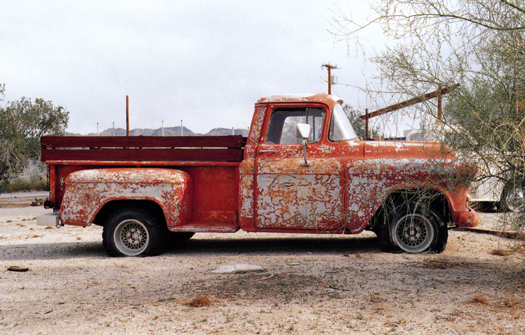 Nº6, Ehrenburg, Arizona, 2001 from the series:  Partially Painted Pickup Trucks  16 x 20 inches edition of 20 chromogenic dye coupler print