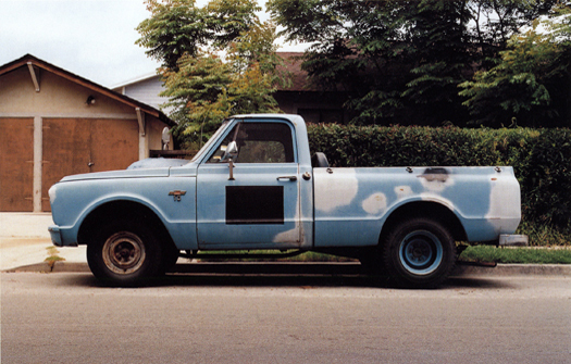 Nº21, Santa Barbara, California, 2001 from the series:  Partially Painted Pickup Trucks  16 x 20 inches edition of 20 chromogenic dye coupler print