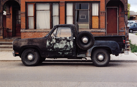 Nº14, Western United States, 1997 from the series:  Partially Painted Pickup Trucks  16 x 20 inches edition of 20 chromogenic dye coupler print