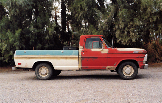 Nº19, Death Valley, California, 2001 from the series:  Partially Painted Pickup Trucks  16 x 20 inches edition of 20 chromogenic dye coupler print
