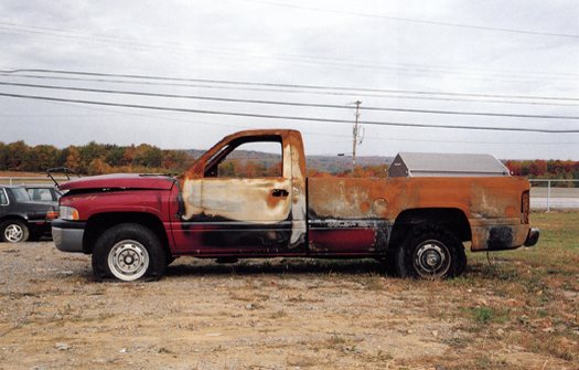 Nº45, Pennsylvania, 2001 from the series:  Partially Painted Pickup Trucks  16 x 20 inches edition of 20 chromogenic dye coupler print