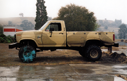 Nº18, Concord, California, 1995 from the series:  Partially Painted Pickup Trucks  16 x 20 inches edition of 20 chromogenic dye coupler print