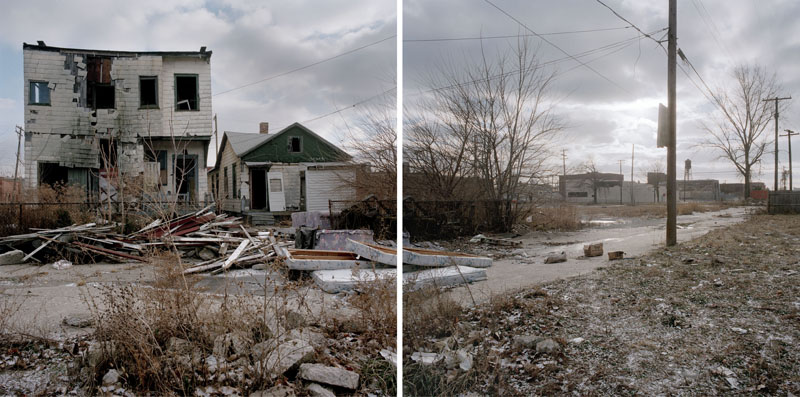 Discarded Landscape #1 (Abandoned House Near Chene Street), Detroit, Michigan, 1999 24 x 43 inches edition of 7 archival pigment print