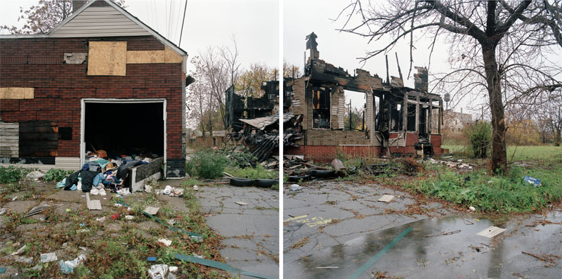 Discarded Landscape #37 (Abandoned Store and Demolished Home), Detroit, Michigan, 2008 24 x 43 inches edition of 7 archival pigment print