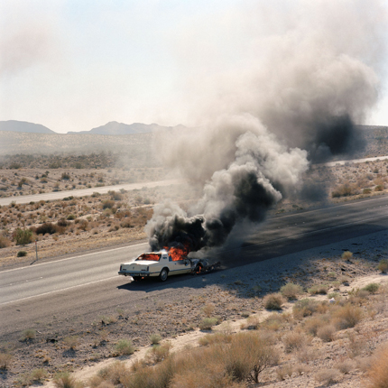 Burning Car, Needles, California, 1992 24 x 20 inches (edition of 20) 38 x 38 inches (edition of 10) archival pigment print
