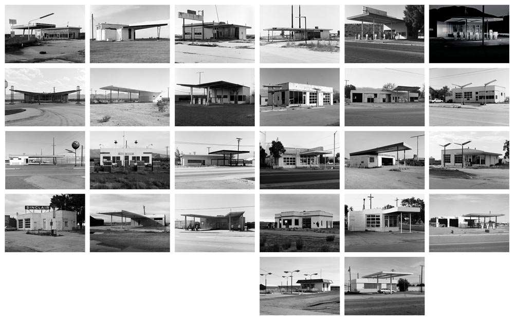 Twenty Six Abandoned Gasoline Stations, Portfolio II 11 x 14 inches (26 prints) edition of 20 archival pigment prints