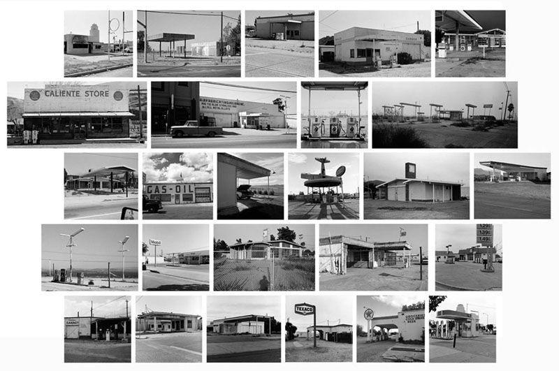 Twenty Six Abandoned Gasoline Stations, Portfolio I 11 x 14 inches (26 prints) edition of 20 archival pigment prints