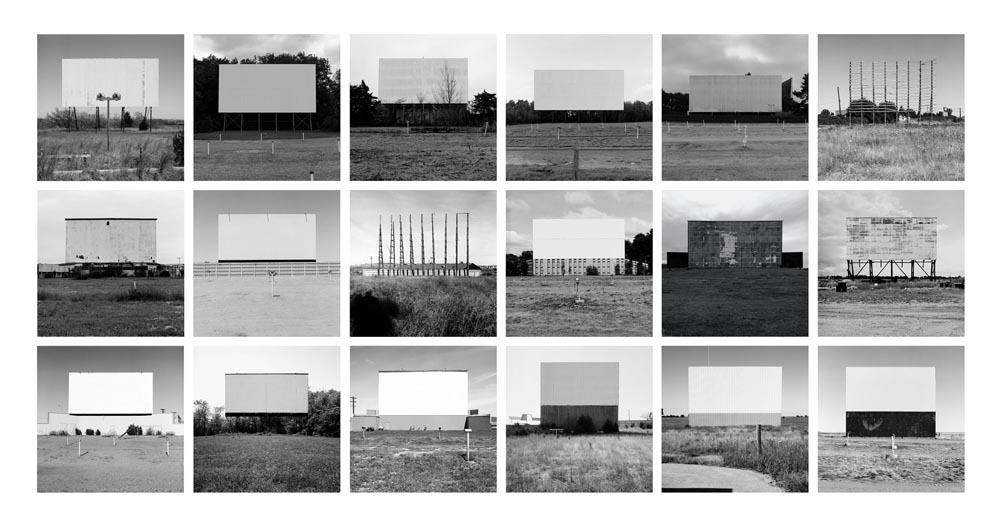 Abandoned Drive-In Theaters Portfolio I, 1990-2002 10 x 10 inches (18 prints) edition of 9 archival pigment prints