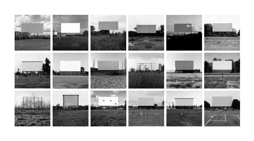 Abandoned Drive-In Theatres Portfolio III, 1992-2008 10 x 10 inches (18 prints) edition of 9 archival pigment prints