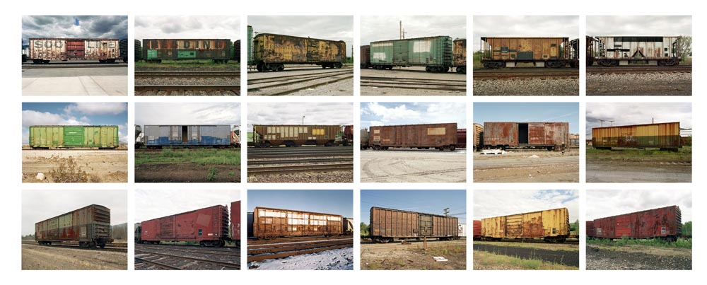 Freight Cars, 1995-2001 9 x 11 inches (18 prints) edition of 9 archival pigment prints