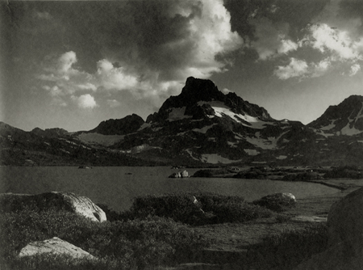 Banner Peak, Thousand Island Lake, Central Sierra, 1923 5.75 x 7.75 inches vintage parmelian print
