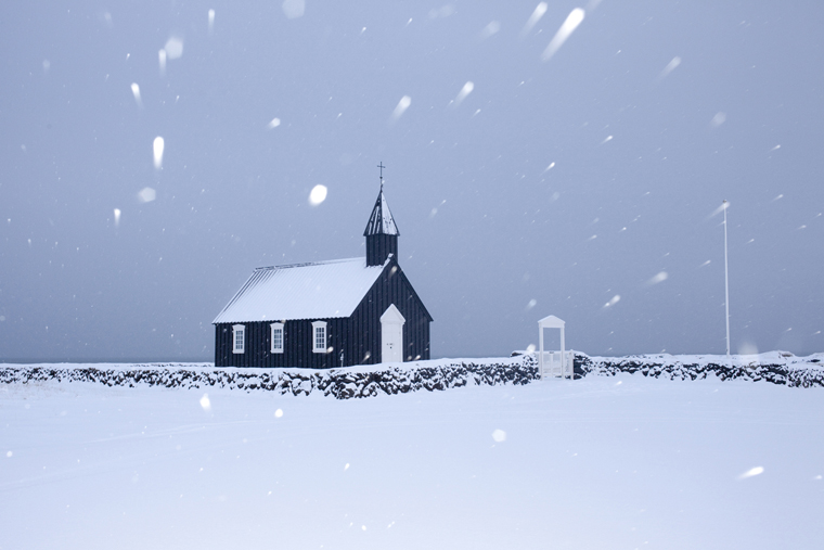 Black Church, Búðir, 2012 from the series  Ísland  24 x 35.5 inches / 60 x 90 cm (edition of 8) 29.5 x 43.5 inches / 75 x 110 cm (edition of 8) archival pigment print