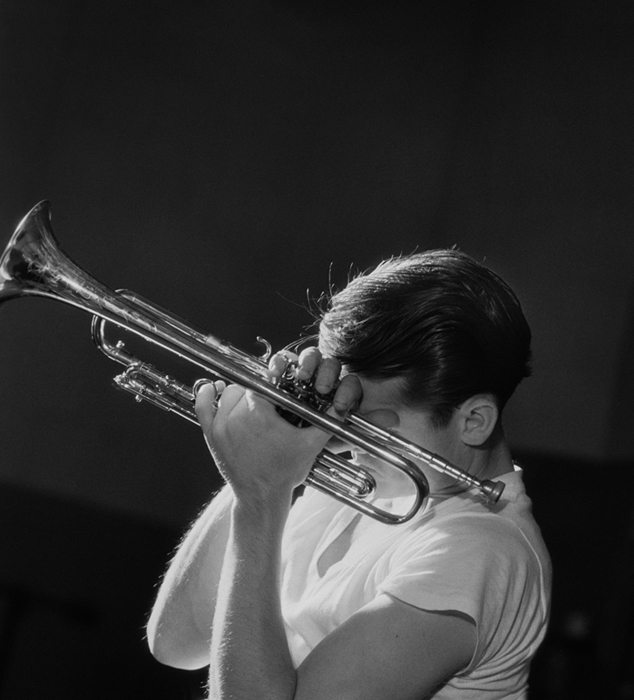 Chet Baker, NYC, 1956 silver print 20 x 16 inches from a limited edition of 50