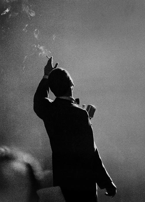 Frank Sinatra, Monte Carlo, 1958 silver print 14 x 11 inches