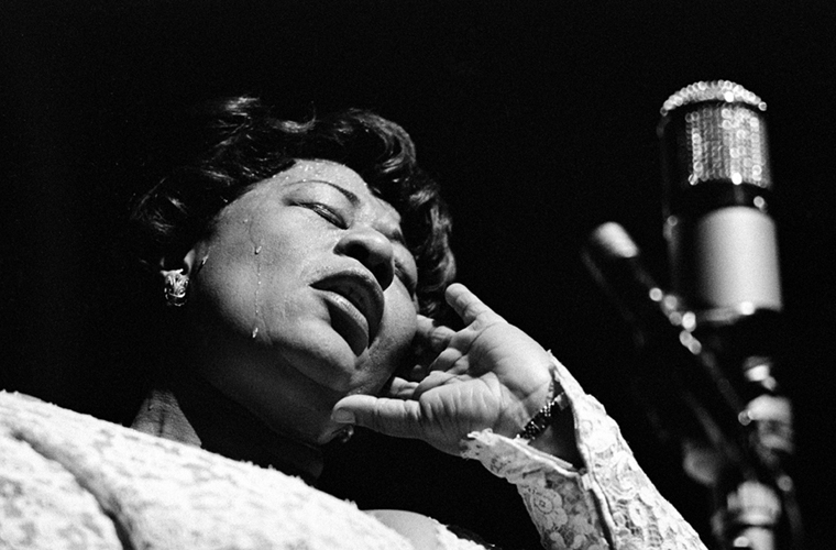Ella Fitzgerald, Paris, Olympia Theatre, 1960 silver print 20 x 24 inches from a limited edition of 50