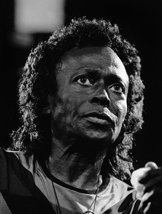 Miles Davis, Montreux, 1991 silver print 20 x 16 inches from a limited edition of 30
