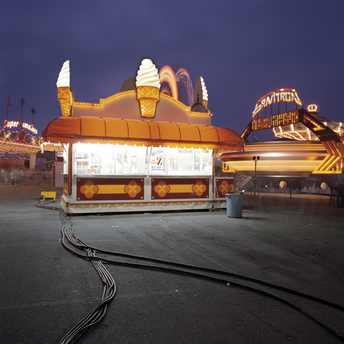 Ice Cream Booth, Ventura, California, 1998 38 x 38 inches edition of 10 chromogenic dye coupler print