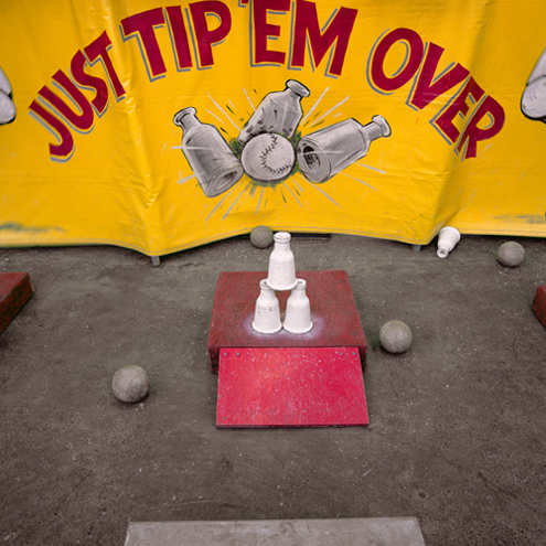 Just Tip 'Em Over, Ventura, California, 1988 38 x 38 inches edition of 5 chromogenic dye coupler print