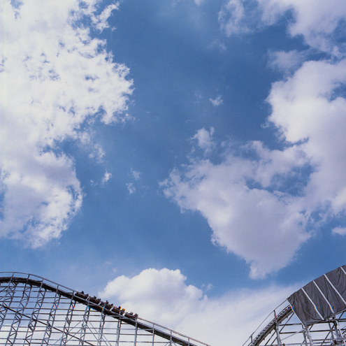 Coaster and Clouds, Denver Colorado, 1990 38 x 38 inches edition of 10 chromogenic dye coupler print