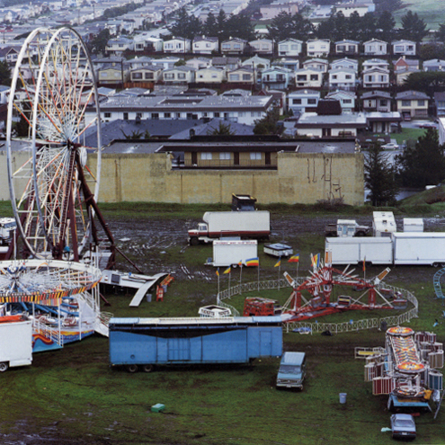 Ferris Wheel and Houses, Daly City, California, 1991 38 x 38 inches edition of 10 chromogenic dye coupler print